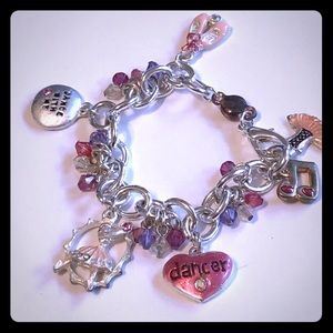 EUC Girls Dance Charm Bracelet